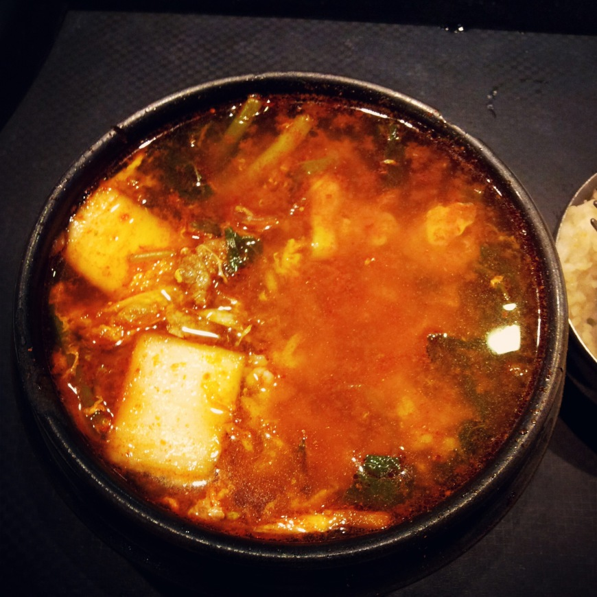 Spicyyyyy Korean lunch! :D